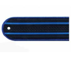 Погоны пластиковые Юстиция тёмно-синие
