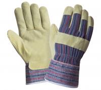 Перчатки W.G.спилковые 0115 (AB-88PBSA), свиной спилок, полная ладонь р.10,5