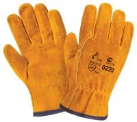 Перчатки W.G. спилковые, желтые. арт.0220