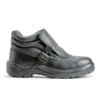 Ботинки сварщика кожанные, подошва ПУ/нитрил  арт.24
