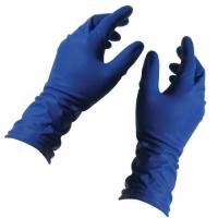 Перчатки высокопрочные, нестерильные (Top Glove), синие, арт.209,  р.L