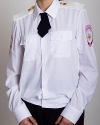 Женская блузка, с д/р на резинке, белая