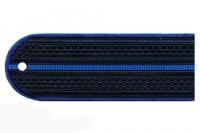 Погоны пластиковые Юстиция (т.синие, 1синий просвет)