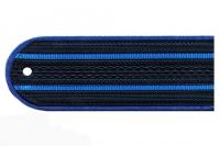 Погоны пластиковые Юстиция (т.синие, 2 синих просвета)