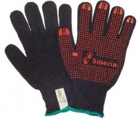 Перчатки W.G.Siberia машинного вязания с ПВХ 7501