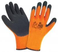 Перчатки W.G.акриловые 10G/вспененный латекс ICE ар., 0420