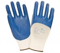 Перчатки W.G. нитриловые легкие, нейлоновые, синие, 7111