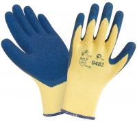 Перчатки W.G. латексные,рельефные, синие, 0482
