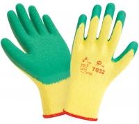 Перчатки W.G.латексные,рельефные,зеленые, 10кл.,7032