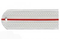 Погон пластиковый МВД (белый,1 красный просвет)