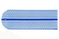 Погоны пластиковые Юстиция (голубые, 1синий просвет)
