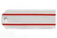 Погон пластиковый МВД (белый, 2 красных просвета)