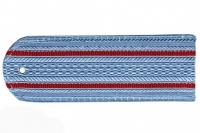 Погон пластиковый МВД (голубой, 2 красных просвета)