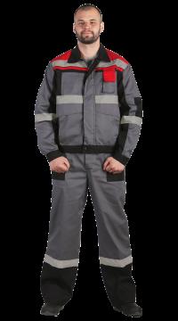 """Костюм мужской """"Виват-2"""",серый с черным и красным"""