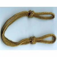 Шнур плетеный на фуражку шелк. золотого цвета (латунь)