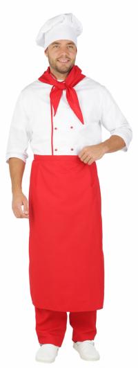 """Костюм  """"Шеф-повар"""" белый с красным"""