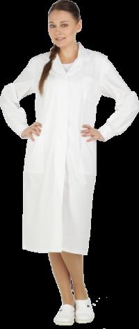 Халат женский белый (бязь)