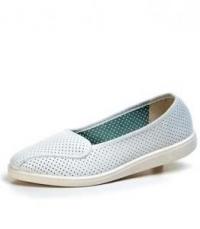 Туфли женские искусственная кожа, перфорированные,белые, М-11П