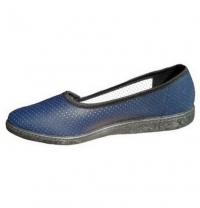 Туфли женские искусственная кожа, перфорированные,синие, М-11П
