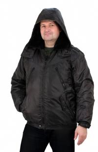 """Куртка """"Охрана"""" утепленная, укороченная, черная (с капюшоном) URSUS, КУР617-280"""
