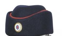 Шляпа фетровая Полиция с красным кантом женская