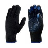 Перчатки полушерстяные (черные,тёмно-серые)  7 класс 4 нити, арт.701