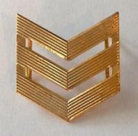 Угольник на погоны сержанта на кляп., золотой (3 галочки)