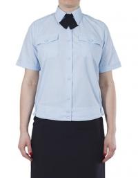 Женская блузка, с коротким рукавом на резинке (голубая)