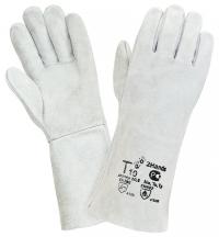 Краги спилковые , белые, без подкладки, Т10