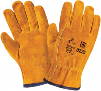 """Перчатки """"Драйвер Люкс"""" спилковые, желтые"""