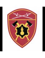 Шеврон вышитый, Инженерные в/ч  РГ УФО (бордовый)