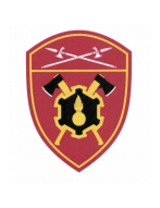 Шеврон вышитый, Инженерные в/ч  РГ УФО (бордовый) с липучкой