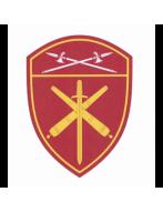 Шеврон вышитый, Артиллерийские в/ч  РГ УФО (бордовый)