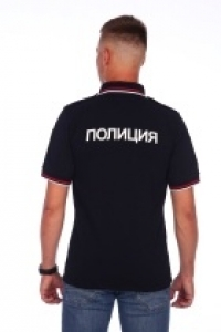 """Рубашка поло """"ПОЛИЦИЯ"""" классического покроя"""