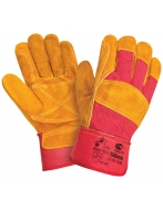 Перчатки усиленные W.G.Siberia спилковые, комбинированные,  0110-11-ru (RL3)