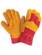 Перчатки утепленные W.G.Siberia  спилковые, комбинированные,искусственный мех.,0385