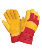 Перчатки утепленные W.G.Siberia кожаные комбинированные, 0125