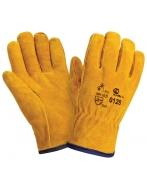 Перчатки утепленные W.G. DRIVER спилковые,желтые, искусственный мех, 0128