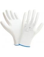 Перчатки W.G. нейлоновые,  Полиуретановые  (белые),  2101