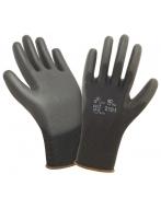 Перчатки W.G. нейлоновые,  Полиуретан,  (черные),  2101BLK
