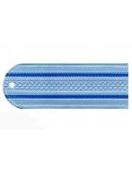 Погоны пластиковые Юстиция (голубые, 2 синих просвета)