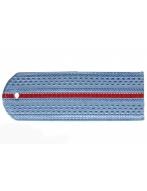 Погон пластиковый МВД (голубой, 1 красный просвет)
