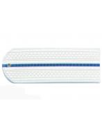 Погоны пластиковые Юстиция (белые, 1 синий просвет)