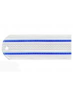 Погоны пластиковые Юстиция (белые, 2 синих просвета)