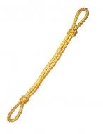 Шнур плетеный на фуражку шелк.золотого цвета (ф)