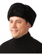Шапка-ушанка ,искусственный мех, черная,  ШАП300