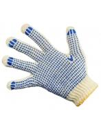 Перчатки х/б с ПВХ  - 7,5 класс 4 нити