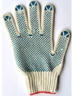 Перчатки х/б с ПВХ  - 7,5 класс 5 нитей
