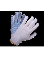 Перчатки х/б с ПВХ  - 7,5 класс 6 нитей