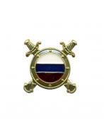 Эмблема петличная - МВД   ВС  (Подразделения по оперативной работе и охране общественного порядка) с эмалью